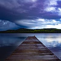 Buy canvas prints of Loch lomond shore by Raymond Bell