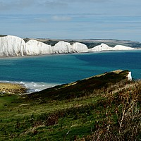Buy canvas prints of The Seven Sisters by robin whitehead