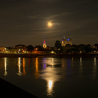 Buy canvas prints of The Flower Moon of VE Day by robin whitehead