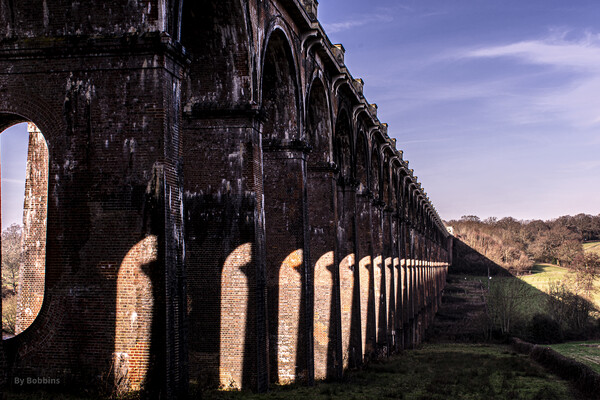 Ouse Valley Viaduct  Framed Mounted Print by robin whitehead