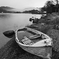 Buy canvas prints of Old rowing boat, Ambleside by Tony Higginson