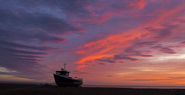 Sunrise at Dungeness Canvas Print by Jenny Hibbert