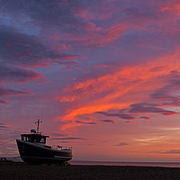 Buy canvas prints of Sunrise at Dungeness by Jenny Hibbert