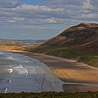 Buy canvas prints of Rhossili Beach by Jenny Hibbert