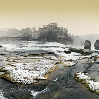 Buy canvas prints of Rhine Falls in winter by Nando Lardi