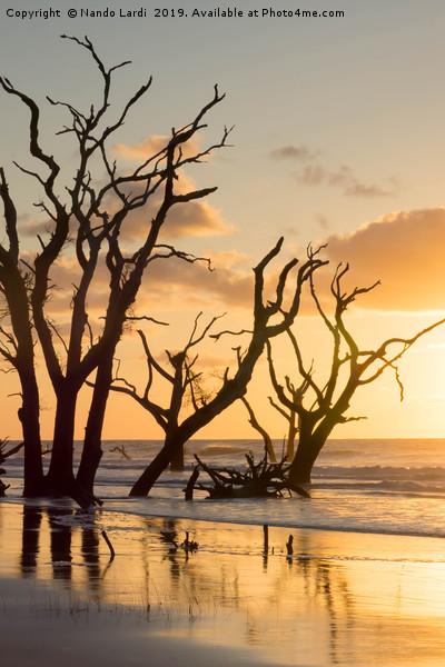 Sunrise Over Sea Canvas print by Nando Lardi
