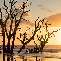 Buy canvas prints of Sunrise Over Sea by Nando Lardi