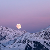 Buy canvas prints of Winter Moonrise by Nando Lardi