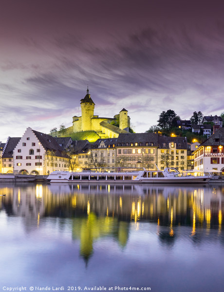 Schaffhausen Sunset Canvas print by Nando Lardi