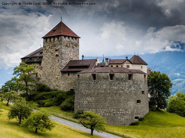 Vaduz Castle Canvas print by Nando Lardi