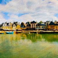 Buy canvas prints of Auray Cityscape 1 by Nando Lardi