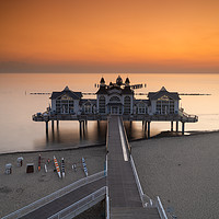 Buy canvas prints of Sellin Pier Sunrise by DiFigiano Photography