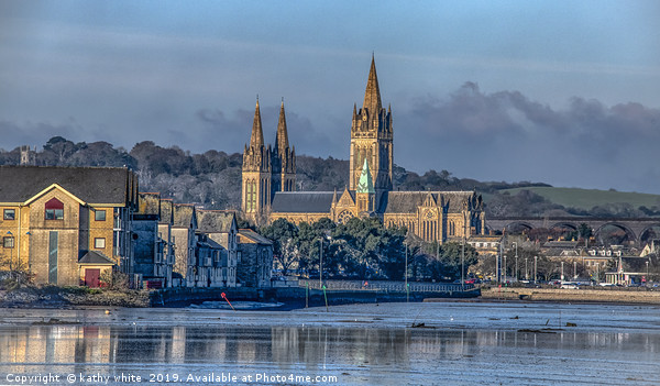 Truro-Cathedral Cornwall Canvas Print by kathy white