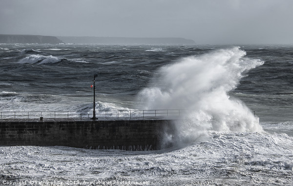 Porthleven Cornwall Canvas print by kathy white
