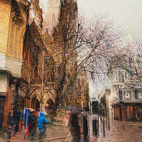 Buy canvas prints of Truro Cornwall Street photography Concept art  by kathy white