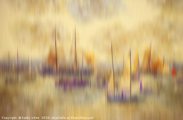 sailing colourfull yachts, flotilla yacht,tall shi Canvas Print by kathy white