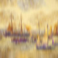 Buy canvas prints of sailing colourfull yachts, flotilla yacht,tall shi by kathy white