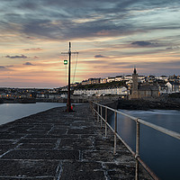Buy canvas prints of Porthleven Cornwall sunrise  Good morning  by kathy white