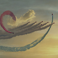 Buy canvas prints of Red arrows  Flying the loop by kathy white
