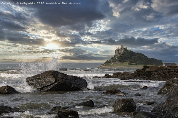 St Michaels mount Marazion Penzance Cornwall uk at Canvas Print by kathy white