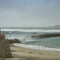 Buy canvas prints of Lands End and Sennen Cornwall storm,cornish seasca by kathy white