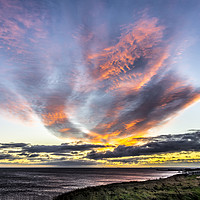 Buy canvas prints of Seaham Clouds at Sunrise by Robert Barnes