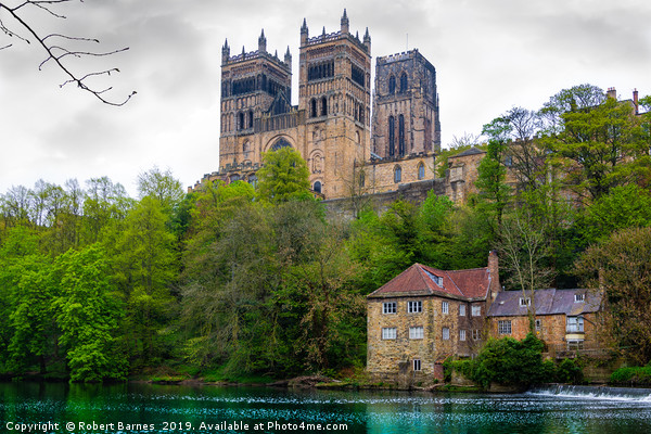 Durham Cathedral overlooking the River Wear Canvas print by Robert Barnes
