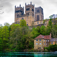 Buy canvas prints of Durham Cathedral overlooking the River Wear by Robert Barnes
