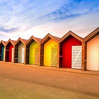 Buy canvas prints of Blyth Beach Huts by Robert Barnes