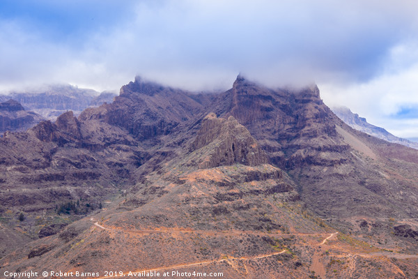 Mountain Clouds of Gran Canaria Canvas print by Robert Barnes