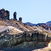 Buy canvas prints of Volcanic Mountain Shapes by Robert Barnes