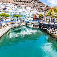 Buy canvas prints of Waterways at Puerto de Mogán Mogan by Robert Barnes