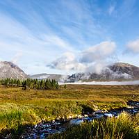Buy canvas prints of Mountains at Glencoe by Robert Barnes