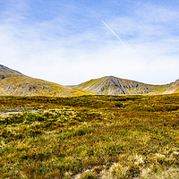 Buy canvas prints of THE MOUNTAINS AT GLENCOE by Robert Barnes