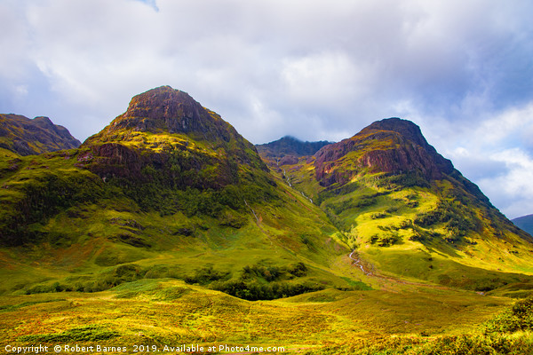 Three Sisters Ridge, Glencoe, Scotland Canvas Print by Robert Barnes