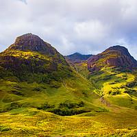 Buy canvas prints of Three Sisters Ridge, Glencoe, Scotland by Robert Barnes