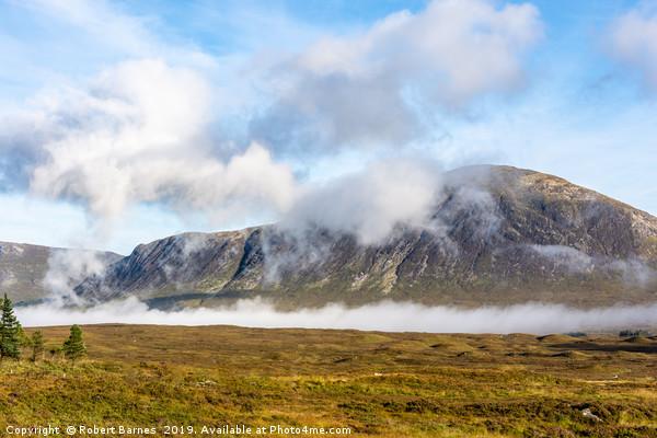 Mountain Mist Canvas Print by Robert Barnes