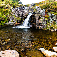 Buy canvas prints of Mountain Waters by Robert Barnes