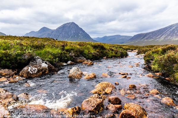 River Etive, Scotland Canvas print by Robert Barnes