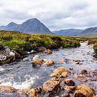 Buy canvas prints of River Etive, Scotland by Robert Barnes