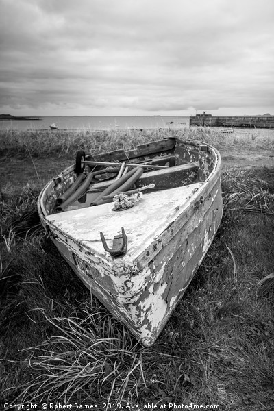 Boats on Holy Island Canvas print by Robert Barnes