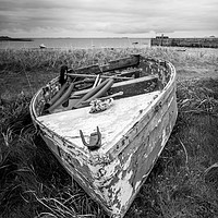Buy canvas prints of Boats on Holy Island by Robert Barnes