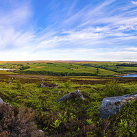 Buy canvas prints of Overlooking Scar House Reservoir by Robert Barnes