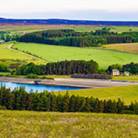 Buy canvas prints of Dale Views at Scar House by Robert Barnes