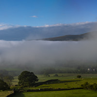 Buy canvas prints of Morning Mist At The Lakes by Robert Barnes