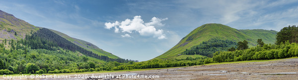 Thirlmere Panoramic Canvas print by Robert Barnes