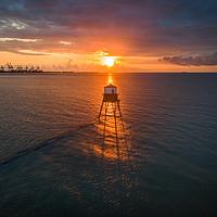 Buy canvas prints of Sunrise at Dover Court Light House  by Nicholas Jones