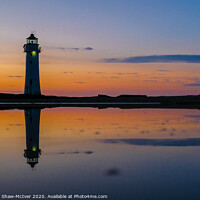 Buy canvas prints of New Brighton Lighthouse sunset by Dominic Shaw-McIver