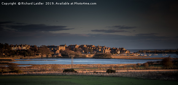 Evening Light, Alnmouth, Northumberland Canvas Print by Richard Laidler