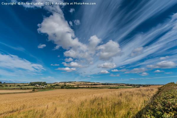 Northumberland Big Sky Canvas Print by Richard Laidler